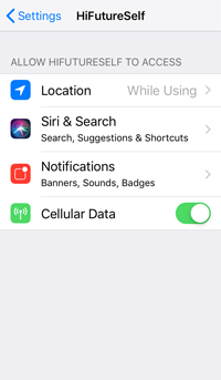iOS App General Settings
